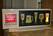 Vintage 1950's Rheingold Beer Lighted Bar Display-Sign And Box Original+Beauty!