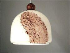 70er Jahre Doria Glas Pendel Leuchte cappuccinofarben alte Hänge Lampe 70er Jahr