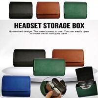 Mini Ledertasche Aufbewahrungsbox für Sony WF-1000XM3 Bluetooth Wireless Headset