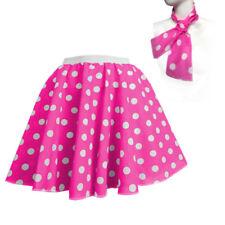 FRESHER WEEK Grease Pink Ladies ROCK N ROLL SKIRT & SCARF FANCY DRESS COSTUME