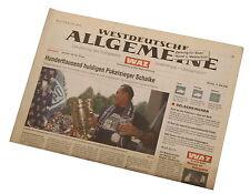 Zeitung WAZ 13.5.2002 Pokalsieg Schalke 04 Pokalsieger m. Huub Stevens Ebbe Sand