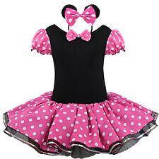 Kids Girls Polka Dots Dress Party Costume Tutu Skirt Holiday Birthday Headband