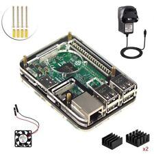 Start Kit for Raspberry Pi 3 Model b , 2.5A Power Supply , Case, Fan , Heatsink
