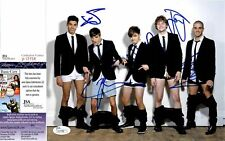 The Wanted SIGNED 8x10 Photo JSA COA Max George Nathan Sykes Tom Parker Siva Jay