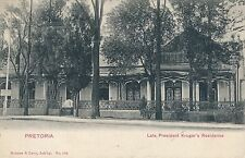 POSTCARD   SOUTH  AFRICA    PRETORIA  Late     President  Kruger's  Residence