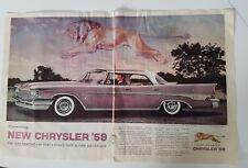 1959 purple Chrysler New Yorker 4 door hardtop car lionhearted ad