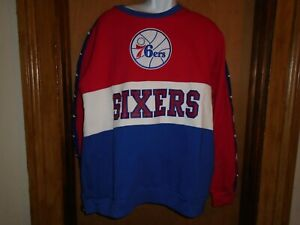 Philadelphia 76ers Mitchell & Ness Leading Scorer Fleece Sweatshirt S XL XXL NWT