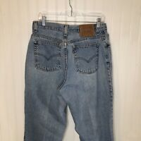 Vintage Levis 550 Blue Mom Jeans High Rise 14 Womens Relaxed Fit Tapered Leg