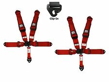Simpson 3x3 Latch & Link Racing Harnesses Clip In Red W/Black Hardware No Pads
