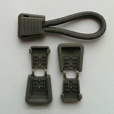 10 Plastic Dk Gray Zipper Pull Cord Ends Clip Paracord Repair Zip Charcoal  #5
