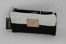 NEW Guess Rose Bud SLG Slim Small Wallet Checkbook Clutch Black Multi NWT