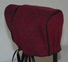 Dark Red Herringbone Baby Boy Hat