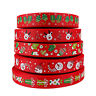 "5Yards 1""(25mm) Christmas Snowman Printed Grosgrain Ribbon DIY Crafts Materials"
