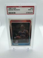 1988 Fleer # 43 Dennis Rodman RC Rookie Card PSA 9 Mint Detroit Pistons