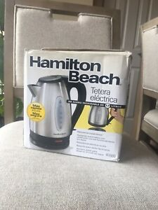 Open Box New Hamilton Beach Testers Electrica Slightly Dent Cord Free Serving
