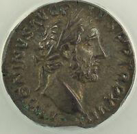 AD 154 Roman Denarius Silver Coin Antoninus Pius Rome Mint ANACS EF-45 AKR