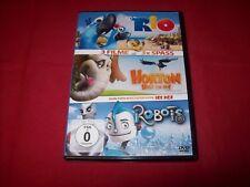 Rio , Horton hört ein Hu ! und Robots  -- 3 Filme 3X Spass -- DVD -- Gut -- 3DVD
