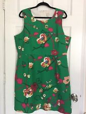 J Crew Dress Size 20  Sleeveless Crew Neck Floral Rear Zip Excellent