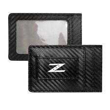 for Nissan 350Z Z Logo Slim Black Carbon Fiber RFID Card Holder Wallet
