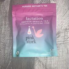 Pink stork Lactation Tea Smooth Vanilla Organic Caffeine Free BB2021 Make30 Cups