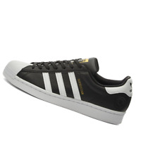 ADIDAS MENS Shoes Superstar Vegan - Black, White & Gold - FW2296