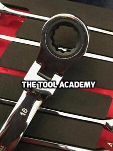 Britool 8-21mm Flexi Head Ratchet Spanner Wrench Set in Foam 400 x 180 x 40mm