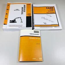 Lot Case 125B Excavator Service Parts Operators Repair Shop Catalog 3 Manuals