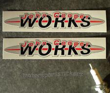"Pair of  John Cooper works 6"" stickers"