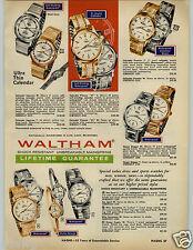 1966 PAPER AD 6 Pg Watches Waltham Clinton Calendar Supreme Golden Crest Ophelia