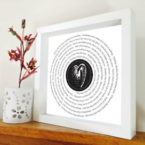 Foo Fighters - All my life framed song lyrics – Dave Grohl - Music Gift - Foo's