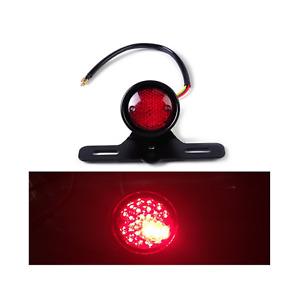 12V RED LED Tail Stop Brake Light License Plate Holder For Sportster 883 Motor