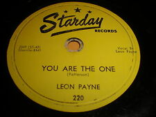Leon Payne: You Are The One / Doorstep To Heaven 78 - Starday 220