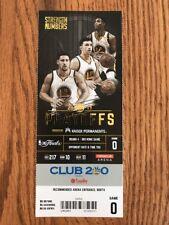 2017 Golden State Warriors Ticket Stub Finals Game 5 Clincher Full Ticket