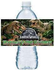 20 JURASSIC DINOSAUR BIRTHDAY PARTY FAVORS ~ WATER BOTTLE LABELS