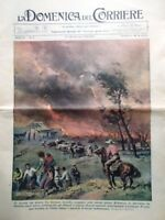 La Domenica del Corriere 28 Gennaio 1939 India Fuoco Bonaparte Pattinaggio Treni