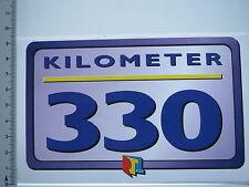 Aufkleber Sticker Radio RTL - Tele Luxemburg - Kilometer 330  (5663)