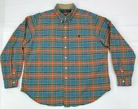Ralph Lauren Men's Multicolor Plaid Long Sleeve Shirt 2XL XXL Button Down Shirt