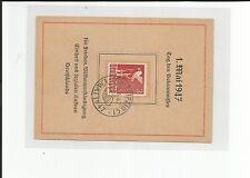AB / 1.5.47 Leipzig S.-Stpl. a. S.-Karte Tag des Bekenntnisses für Frieden...