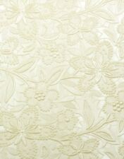 Ivory Coloured Embossed Floral Bloom Invitation Paper A4 / Pkt 5