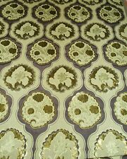 5Y new VERVAIN cut velvet fabric KIMONO in PISTACHIO scroll floral home decor