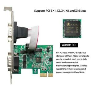 PCIe Combo Serial Parallel Expansion Card PCI Express to Printer LPT RS232 Com