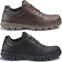 CAT CATERPILLAR Ajax en Cuir Sneakers Tous les Jours Chaussures Hommes Nouveau