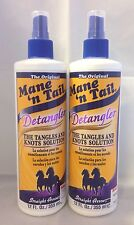 2 The Original Mane'n Cola Desenredador SPRAY enredos & NUDOS SOLUTION 12 fl.oz