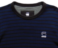 Men's G-STAR RAW G RAW Blue Black Waffle Knit Long Sleeve Shirt Medium M NWT NEW