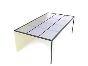 3mx3m Aluminium Carport/Pergola Kit - Polycarbonate/Transparent Roofing
