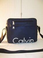 Calvin Klein Sport Navy and Black Nylon Athleisure Messenger Bag $138