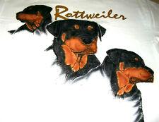 """Rottweiler T-shirt """" White """" Med ( 38 ~ 40 )"""