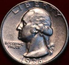 1936 Philadelphia Mint Silver Washington Quarter