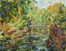 Origina Landscape Flowers Painting R M Mortensen Art