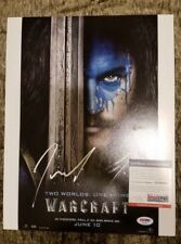 Travis Fimmel Signed Anduin Lothar War Craft Movie 11x14 Photo PROOF PSA/DNA